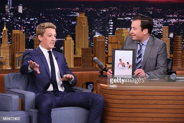 Actor Miles Teller during an interview with host Jimmy Fallon on August 4 2016