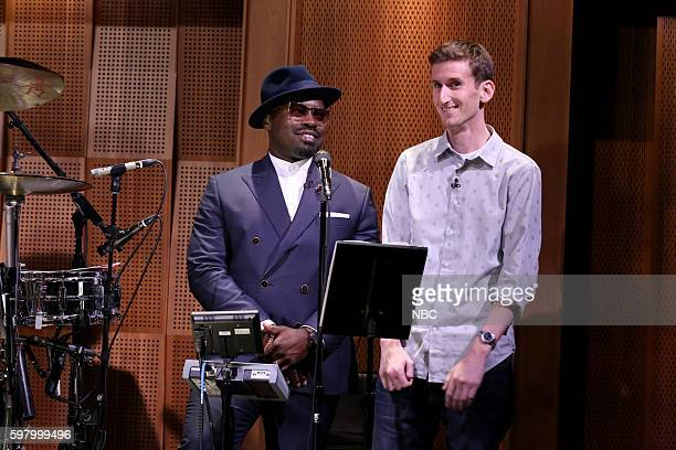 "Tariq ""Black Thought"" Trotter and Jonathan Adler during a Suggestion Box sketch on August 30 2016"