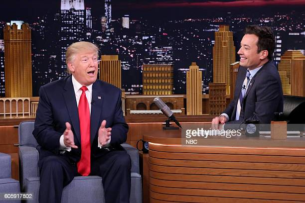 Republican Presidential Candidate Donald Trump during an interview with host Jimmy Fallon on September 15 2016