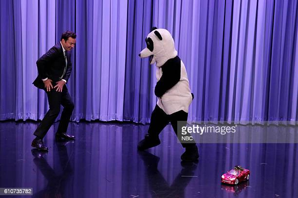 Host Jimmy Fallon and hashtag the Panda dance during a 'Suggestion Box' sketch on September 27 2016