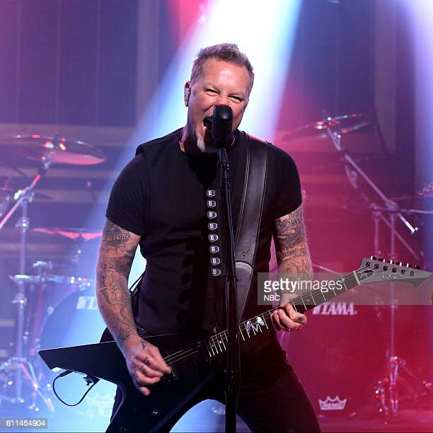James Hetfield of musical guest Metallica perform on September 29 2016
