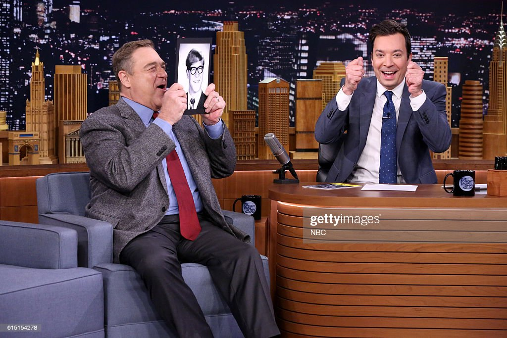 Actor John Goodman during an interview with host Jimmy Fallon on October 4, 2016 --