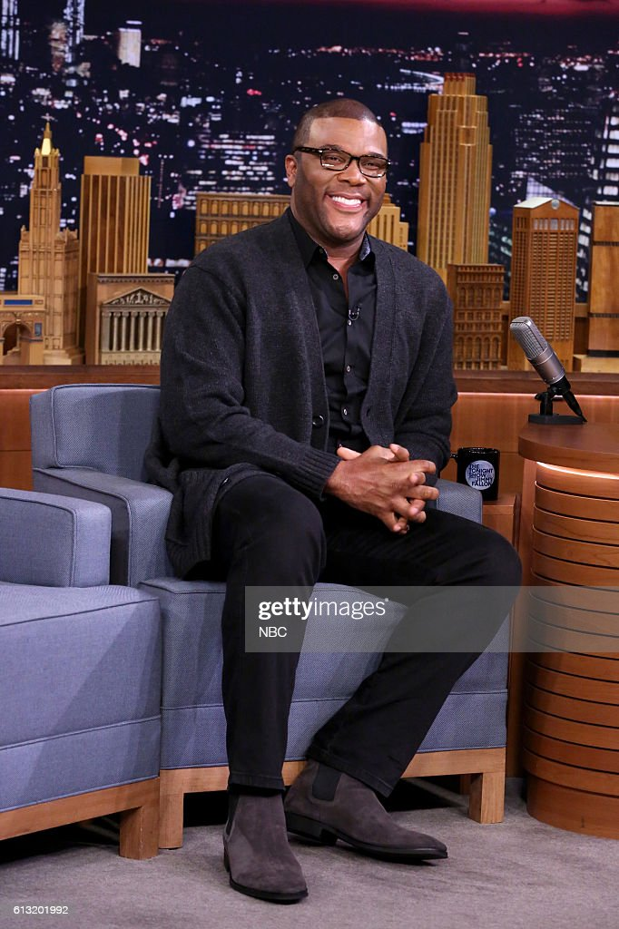 "NBC's ""The Tonight Show Starring Jimmy Fallon"" with guests Tyler Perry, Abigail Spencer, Van Morrison"
