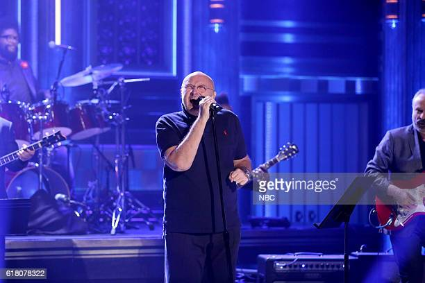 Musical guest Phil Collins with The Roots perform on October 25 2016