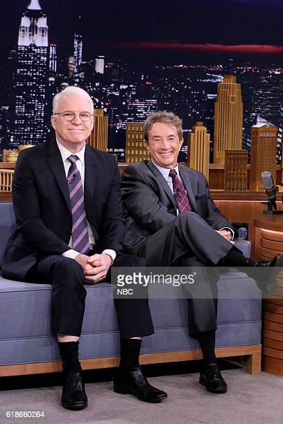 Actors Steve Martin and Martin Short during an interview on October 27 2016