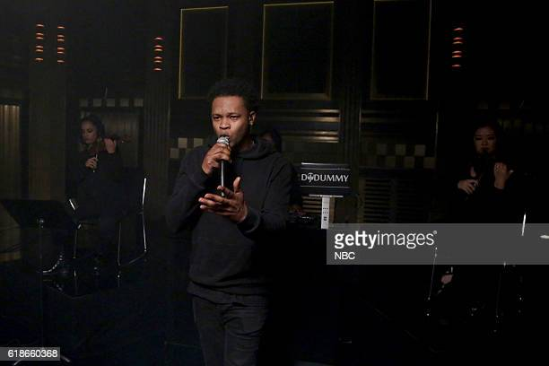 BJ The Chicago Kid performs with musical guest Common on October 27 2016