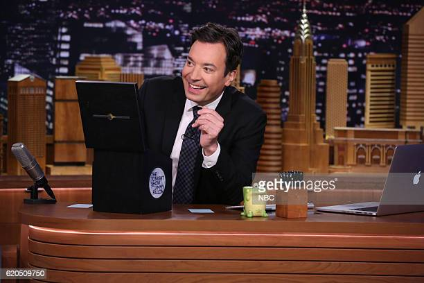 Host Jimmy Fallon during 'Suggestion Box' on November 1 2016