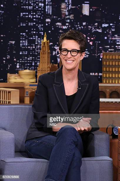 Television personality Rachel Maddow during an interview on November 3 2016