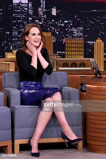 Actress Michelle Dockery during an interview on November 11 2016