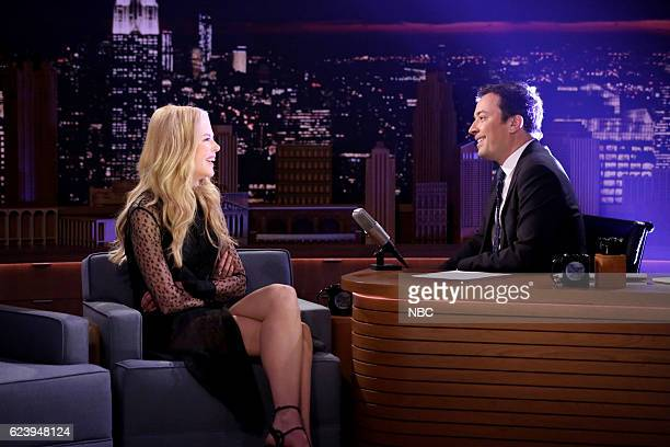 Actress Nicole Kidman during an interview with host Jimmy Fallon on November 17 2016