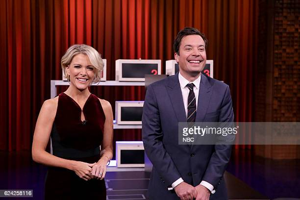Journalist Megyn Kelly and host Jimmy Fallon play 'Box of Lies' on November 18 2016