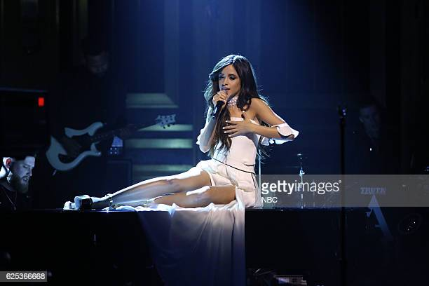 Musical guest Camila Cabello performs on November 23 2016