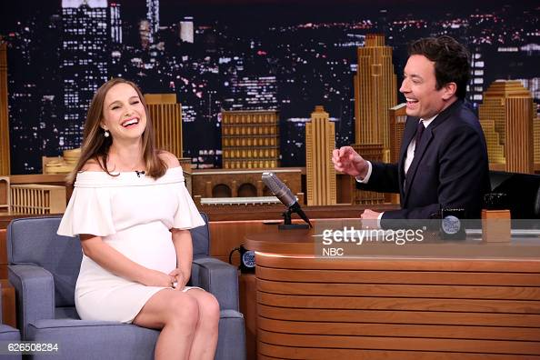 Actress Natalie Portman during an interview with host Jimmy Fallon on November 29 2016