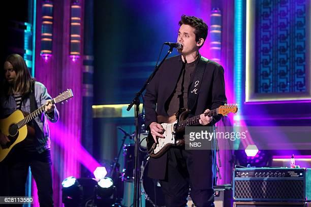 Musical guest John Mayer performs on December 06 2016