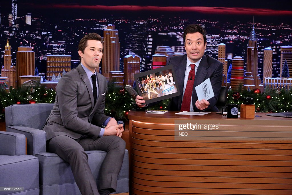 Actor Andrew Rannells during an interview with host Jimmy Fallon on December 16, 2016 --