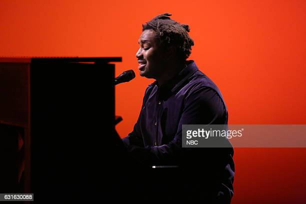 Musical guest Sampha performs on January 13 2017