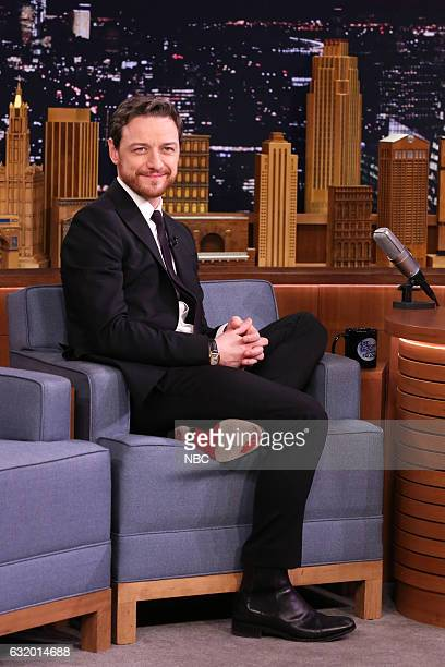 Actor James McAvoy during an interview on January 18 2017