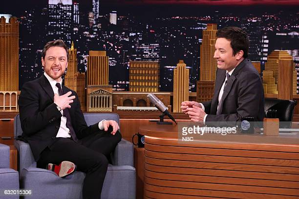 Actor James McAvoy during an interview with host Jimmy Fallon on January 18 2017