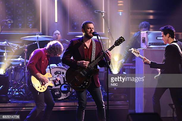 Musical guest Kings of Leon performs on January 18 2017