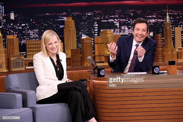 Actress Cate Blanchett during an interview with host Jimmy Fallon on January 23 2017