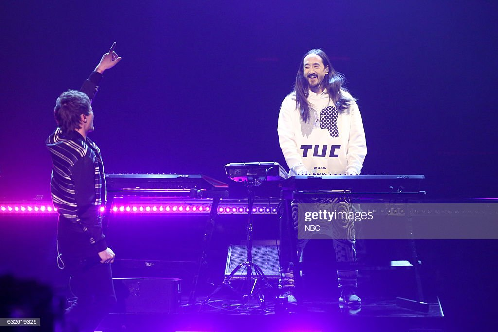 Musical guests Louis Tomlinson and Steve Aoki perform on January 24, 2017 --
