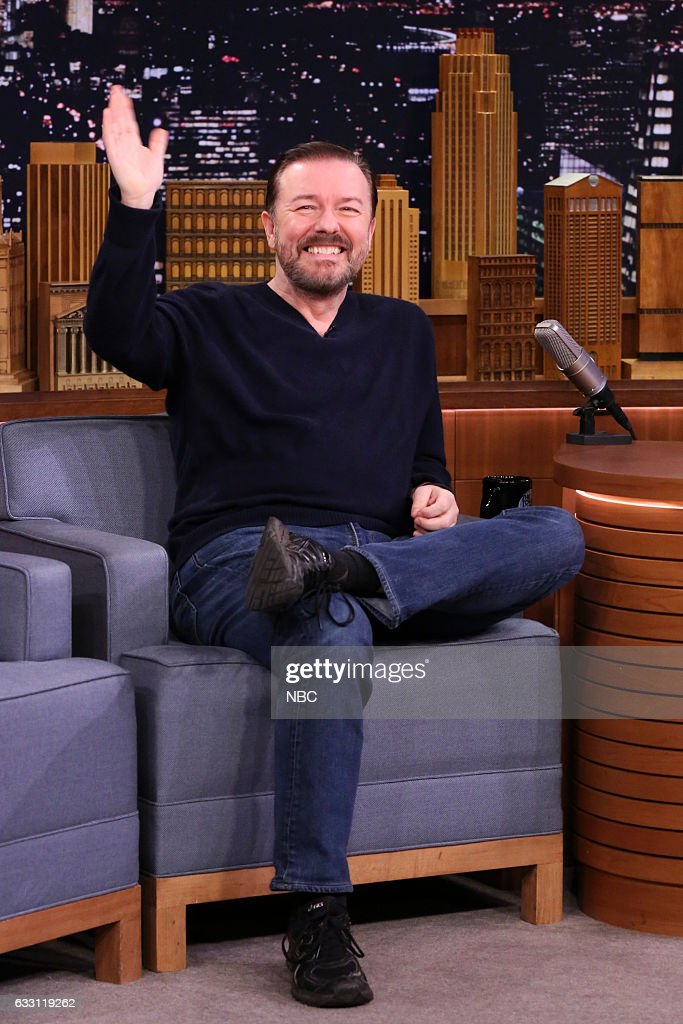 Comedian Ricky Gervais during an interview on January 30, 2017 --