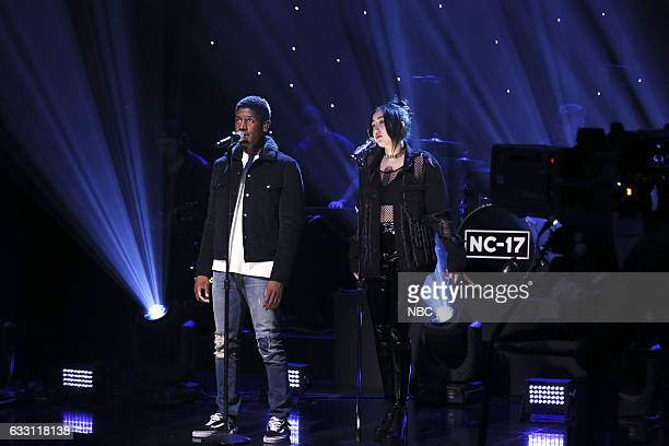 Musical guest Noah Cyrus featuring Labrinth performs on January 30 2017