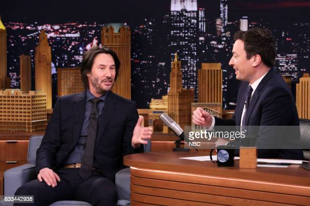 Actor Keanu Reeves during an interview with host Jimmy Fallon on February 1 2017