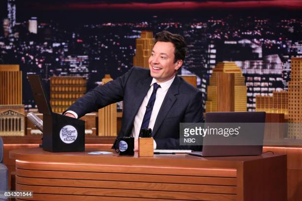 Host Jimmy Fallon during 'Suggestion Box' on February 8 2017