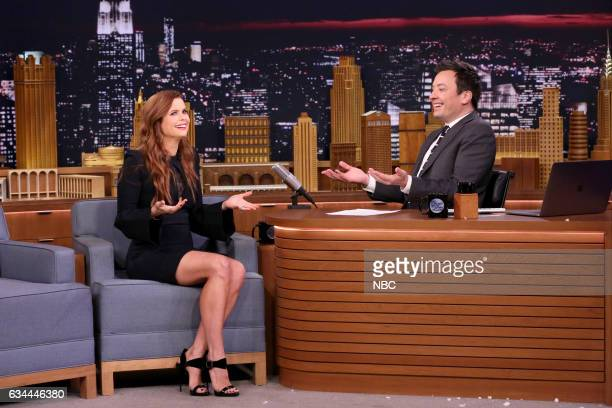 Actress JoAnna Garcia Swisher during an interview with host Jimmy Fallon on February 9 2017