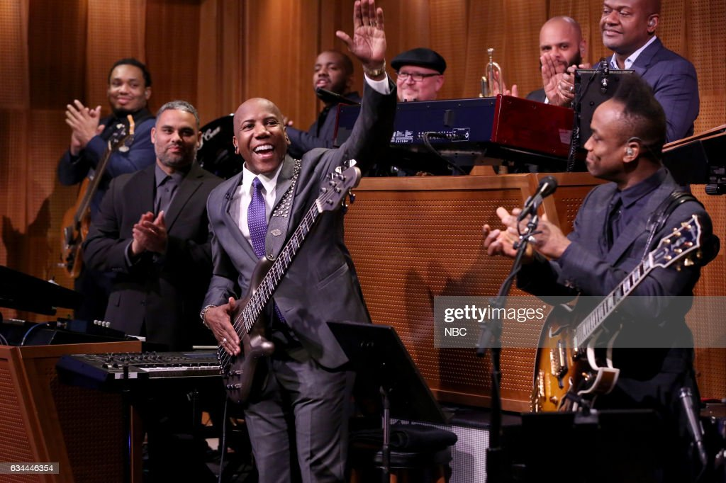 Musician Nathan East performs with 'The Roots' on February 9, 2017 --