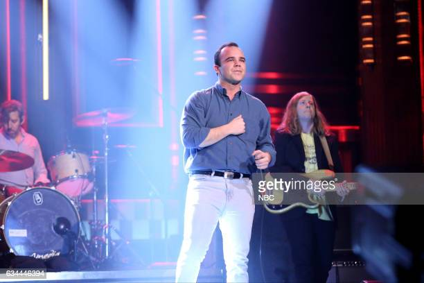 Samuel T Herring and William Cashion of musical guest Future Islands on February 9 2017