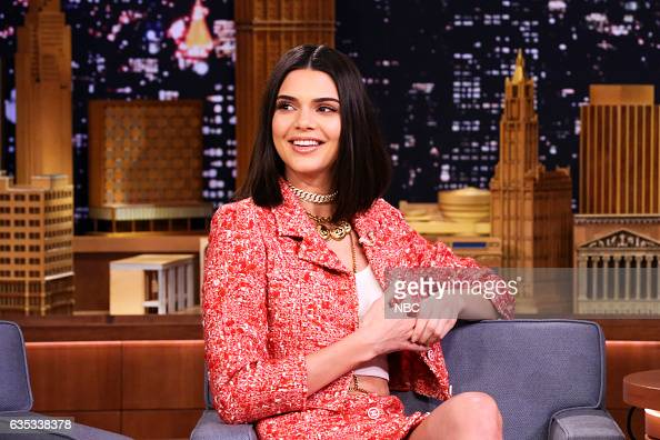 Model Kendall Jenner during an interview with host Jimmy Fallon on February 14 2017