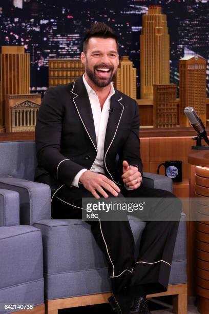 Singer Ricky Martin during an interview with host Jimmy Fallon on February 16 2017