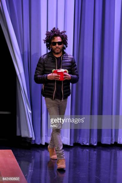 Singer Lenny Kravitz arrives on February 17 2017