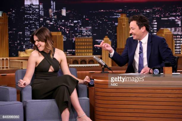 Actress Mandy Moore during an interview with host Jimmy Fallon on February 24 2017