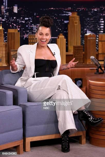 Singer Alicia Keys on February 28 2017