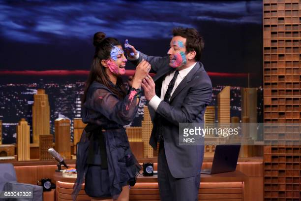 Actress Priyanka Chopra during an interview with host Jimmy Fallon on March 13 2017