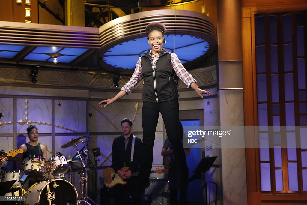 Amber Ruffin performs during the 'Famous Audience Members' skit on June 19, 2014 --