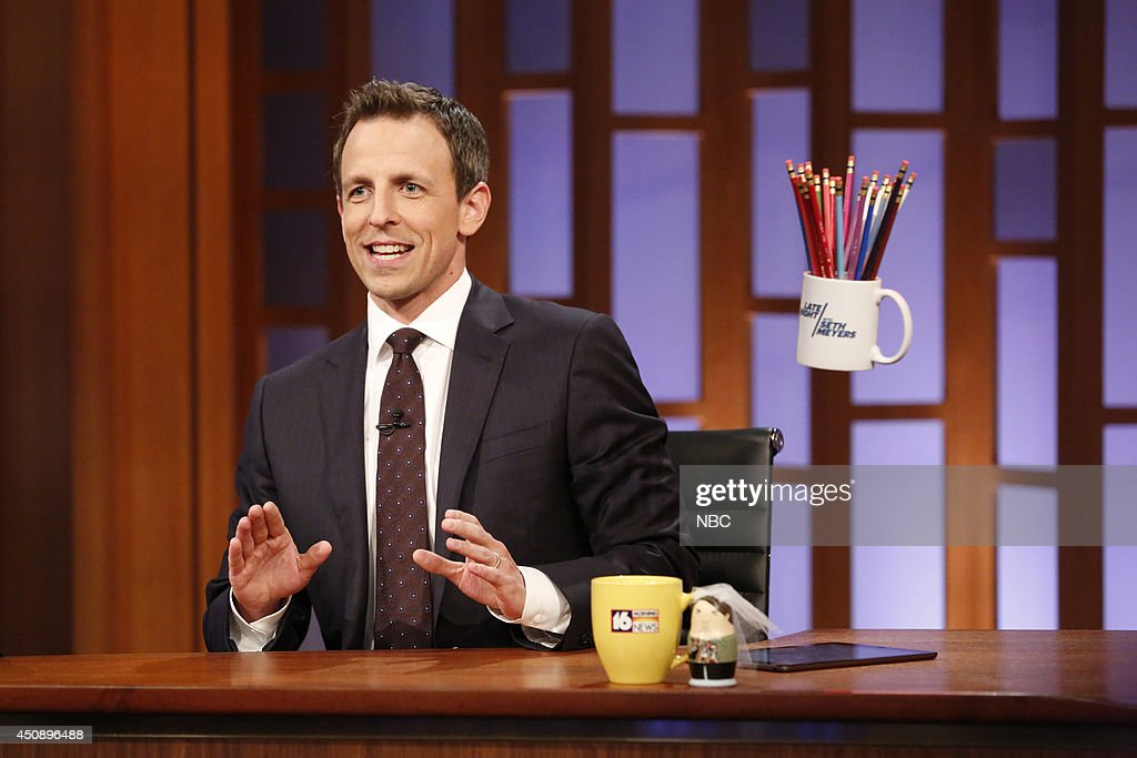 Host Seth Meyers during the 'Famous Audience Members' skit on June 19, 2014 --