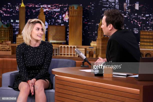 Actress Paris Jackson during an interview with host Jimmy Fallon on March 20 2017