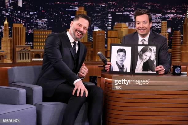 Actor Joe Manganiello during an interview with host Jimmy Fallon on March 21 2017