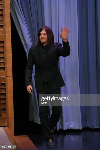 Actor Norman Reedus arrives to the show on March 24 2017