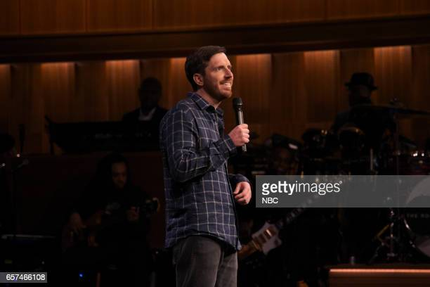 Comedian Joe Zimmerman performs on March 24 2017