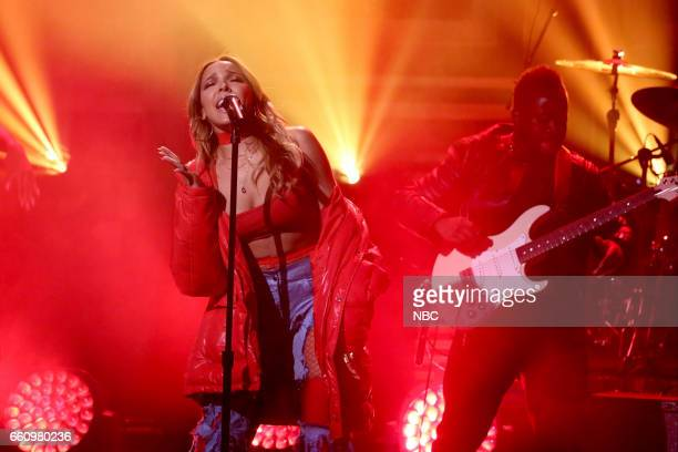 Musical guest Tinashe performs on March 30 2017