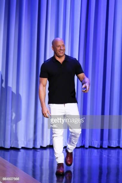 Actor Vin Diesel arrives to the show on April 3 2017