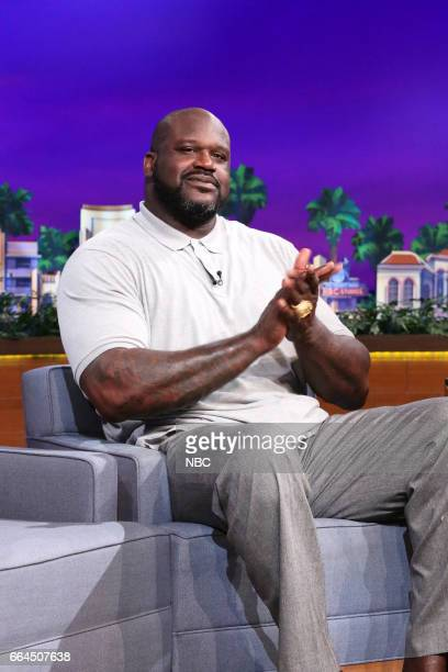 Basketball player Shaquille O'Neal during an interview on April 3 2017