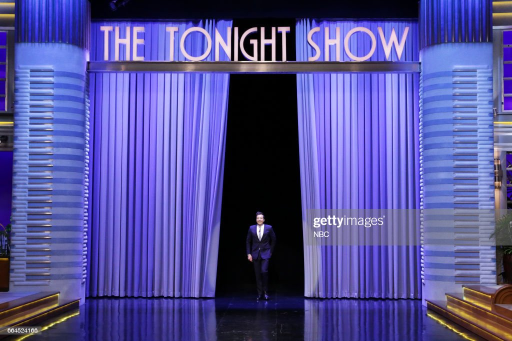 Host Jimmy Fallon during the monologue on April 3, 2017 --