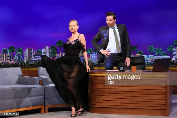 Actress Nicole Richie during an interview with host Jimmy Fallon on April 5 2017