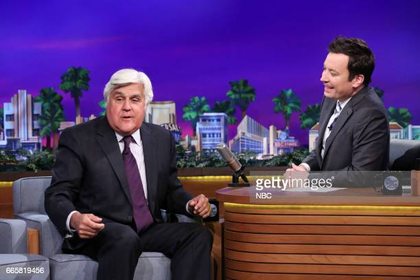 Comedian Jay Leno during an interview with host Jimmy Fallon on April 6 2017
